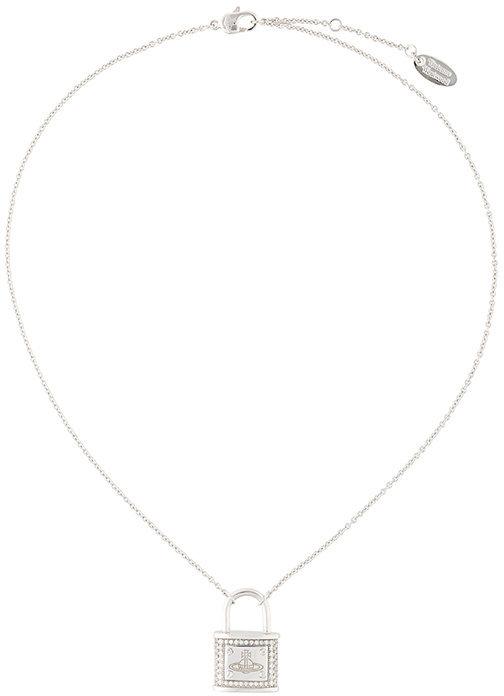 Vivienne WestwoodVivienne Westwood logo padlock charm necklace