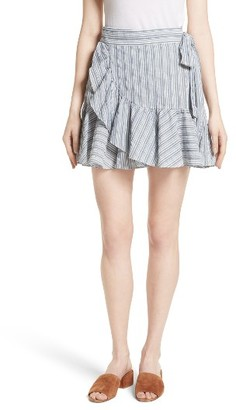 Women's Rebecca Taylor Stripe Wrap Skirt $275 thestylecure.com