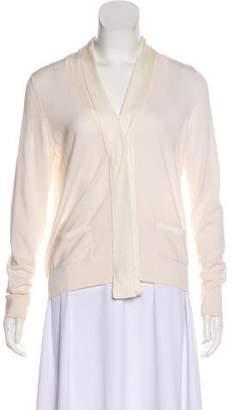 Akris Wool & Silk-Blend Knit Cardigan