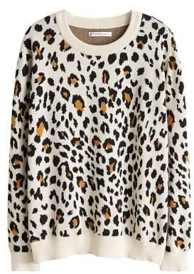 Violeta BY MANGO Leopard cotton sweater