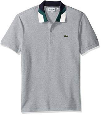 Lacoste Men's Short Sleeve Slim Fit Colorblock Collar Pique Polo