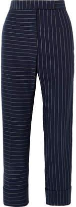 Thom Browne Pinstriped Cotton Slim-leg Pants - Navy