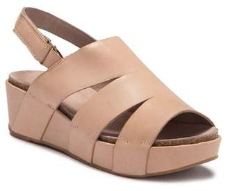 b655a8bc842 Antelope Leather Platform Wedge Sandal