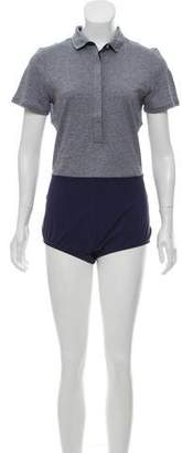 Outdoor Voices Short Sleeve Athletic Romper
