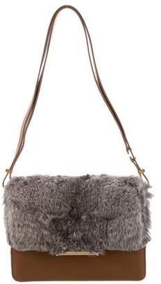Jason Wu Rabbit Fur-Trimmed Mini Diane Bag