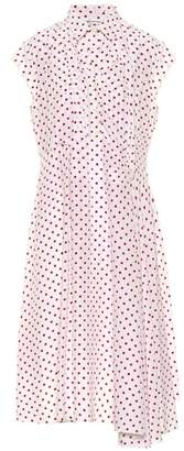 Balenciaga Polka-dot silk shirt dress