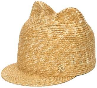 Maison Michel cat ears straw hat