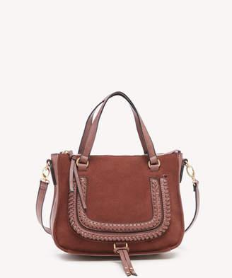 Sole Society Women's Destin Crossbody Bag 2 Vegan Studded Whipstich Pink Salt Vegan Leather From