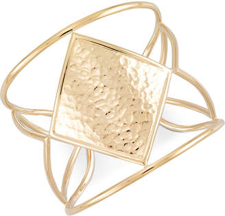 Simone I. Smith Hammered Openwork Cuff Bracelet in 14k Gold over Sterling Silver