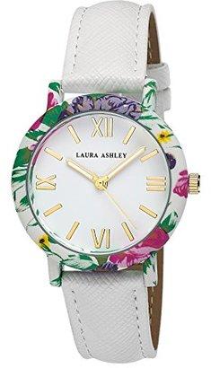 Laura Ashley Women's LA31003WT Analog Display Japanese Quartz White Watch $49.54 thestylecure.com
