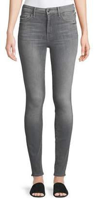Mother Looker High-Waist Faded Skinny Jeans