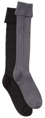 DKNY Turn Cuff Knee High Socks - Pack of 2