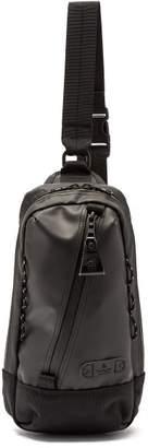 MASTERPIECE Master Piece Slick Leather Trim Cross Body Bag - Mens - Black