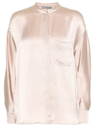Vince Crêpe satin blouse