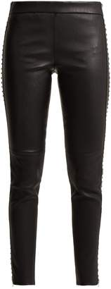 Alexander McQueen Stretch leather leggings with stud detail