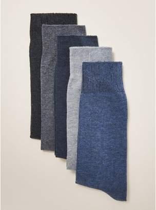 Topman Mens Blue Marl Socks 5 Pack