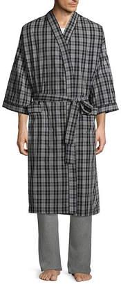 STAFFORD Stafford Men's Broadcloth Kimono Robe - Big