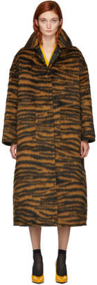 Bottega Veneta Orange Hairy Zebra Coat