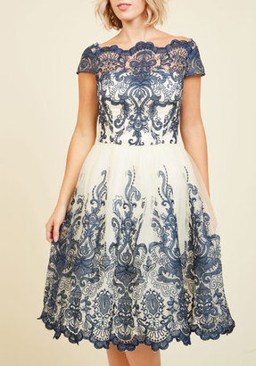 ModCloth Chi Chi London Exquisite Elegance Lace Dress in Navy in 2 $175 thestylecure.com