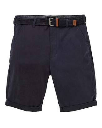 Jacamo Navy Belted Chino Shorts