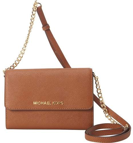 Michael Kors MICHAEL Jet Set Large Phone Crossbody - LUGGAGE - STYLE