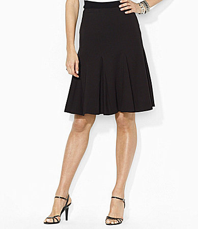 Lauren Ralph Lauren Stretch Godet Skirt