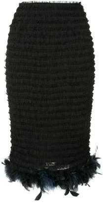 Tu Es Mon Trésor detachable feather mesh skirt
