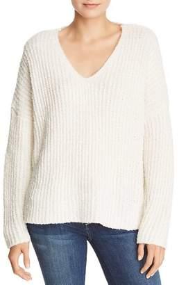 Sadie & Sage Chunky Ribbed Knit V-Neck Sweater