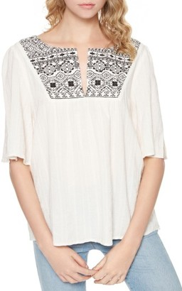 Women's Sanctuary Zambia Embroidered Gauze Top $89 thestylecure.com