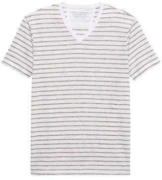 Banana Republic Vintage Stripe V-Neck T-Shirt