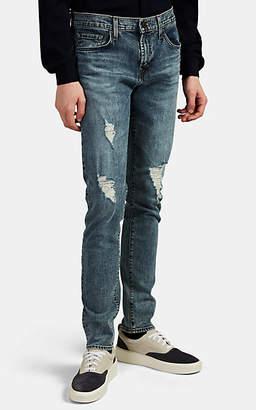 J Brand Men's Mick Distressed Skinny Jeans - Md. Blue