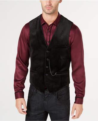 INC International Concepts I.n.c. Men Slim-Fit Velvet Vest