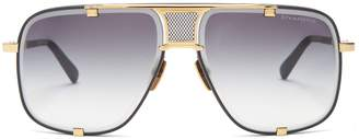 Dita Eyewear Machn Five gold-plated titanium sunglasses