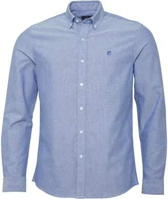 Peter Werth Mens Oxford Button Collar Shirt Blue