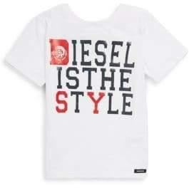 Diesel Little Boy's& Boy's Is The Style Tee