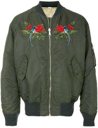 Gucci beaded bomber jacket