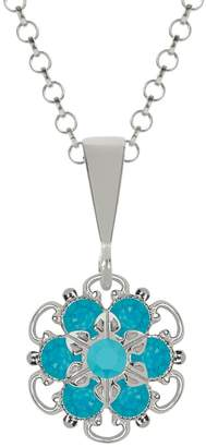 Swarovski Lucia Costin .925 Silver, Blue, Turquoise Crystal Pendant, Attractive