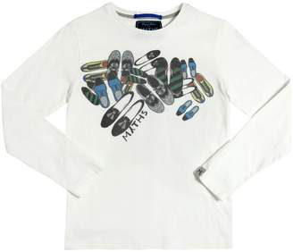Myths Shoes Printed Cotton T-Shirt