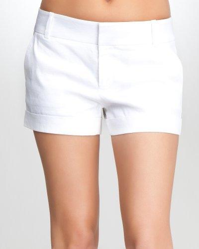 Lilia Stitch Linen Cuff Short