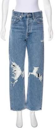 A Gold E AGOLDE High-Rise Straight-Leg Jeans w/ Tags