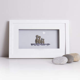 Perfectly Imperfect Daisy Maison 'Our Little Family' Pebble Artwork