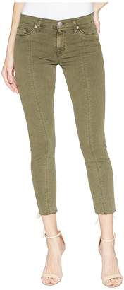 Hudson Nico Mid-Rise Crop Lace-Up Skinny Pants in Crushed Olive Women's Casual Pants