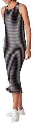 Whistles Stripe Body-Con Midi Dress