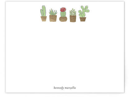 Cactus Fig. 2 Foil-Pressed Personalized Stationery