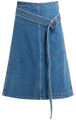 ce8390a2e La Fetiche - Bonnie Belted Denim Skirt - Womens - Indigo