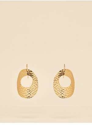 Diane von Furstenberg Hammered Hoop Earrings