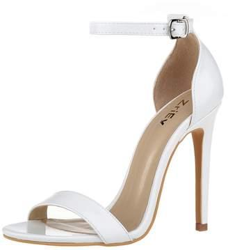 b979c211f6d2 at Amazon Canada · ZriEy Women s Ankle Strap Dress High Heel Sandals  Stilettos 11CM Open Toe Heeled Sandals