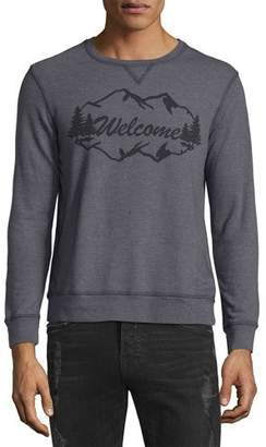 Sol Angeles Welcome Mountains Sweatshirt, Dark Gray