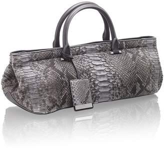 Amanda Wakeley Neeson Charcoal Python Bag