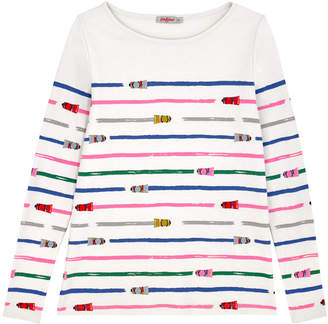 Cath Kidston Paint Tube Stripe Cotton Printed Top